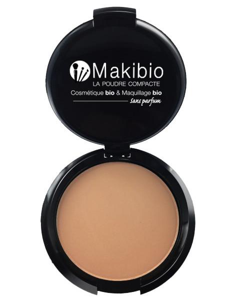 Poudre compacte Dorée 9 gr Makibio maquillage bio et minéral Herboristerie de paris