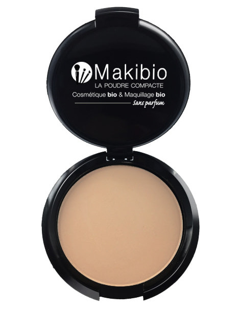 Poudre compacte Nude Naturel 9 gr Makibio maquillage bio naturel Herboristerie de paris