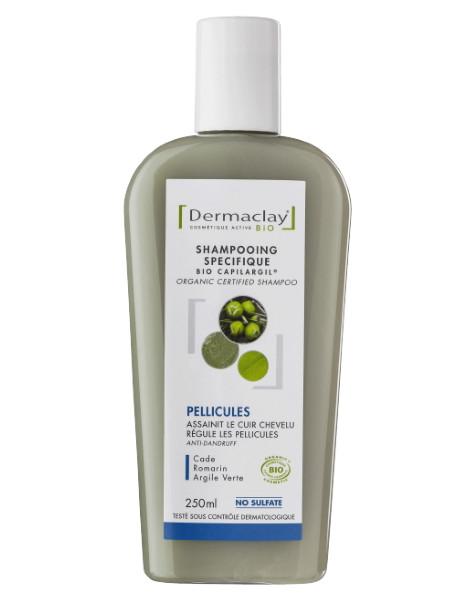 Shampooing Bio Capilargil Bio Pellicules 250 ml Dermaclay shampoing bio Herboristerie de paris