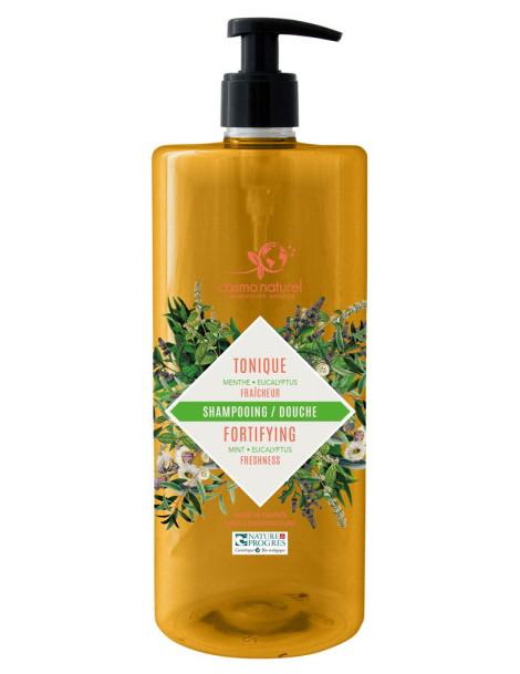 Shampoing douche Tonique 2 en 1 Menthe Eucalyptus 1L Cosmo Naturel shampooing Herboristerie de paris