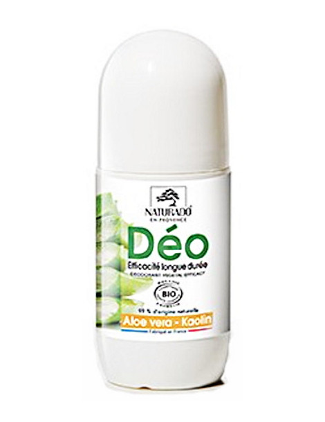 Déodorant longue durée Aloe vera Kaolin 50 ml Naturado déo roll on Herboristerie de paris