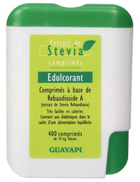 Stévia Rebaudioside A98 400 comprimés Guayapi pouvoir sucrant sans calories Herboristerie de paris