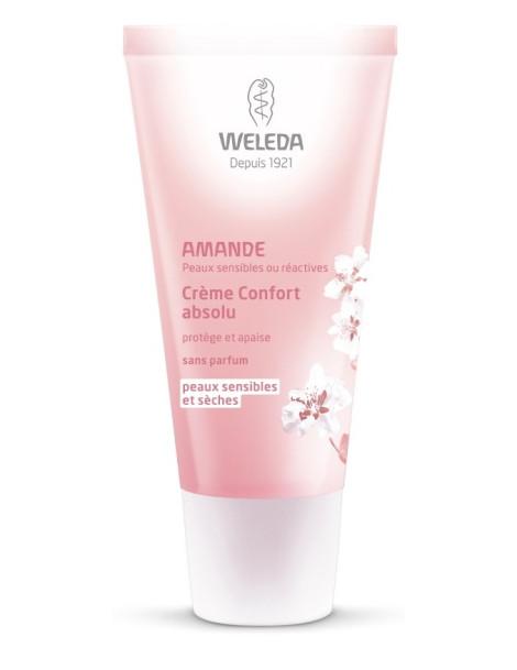 Crème confort absolu Amande douce 30 ml Weleda crème de jour hydratante Herboristerie de paris