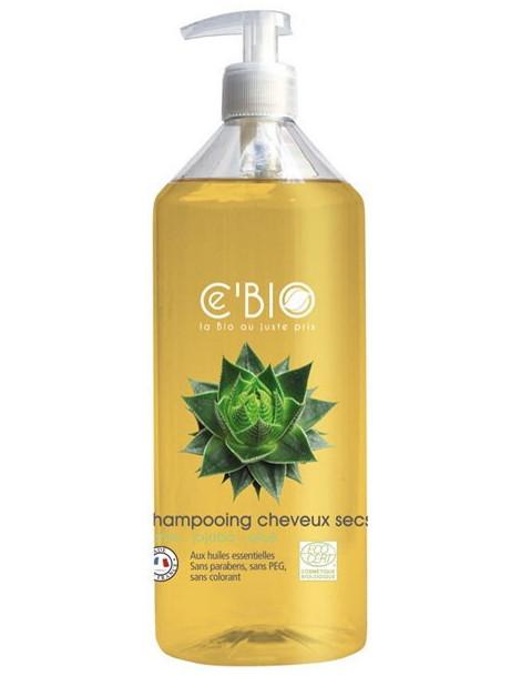 Shampoing cheveux secs Karité Jojoba Aloé 500 ml C'Bio shampooing certifié Herboristerie de paris