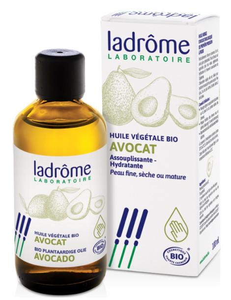 Huile végétale d'Avocat assouplissante et hydratante 100ml Ladrome nutrition Herboristerie de paris