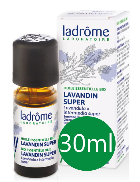 Huile essentielle bio Lavandin x super 30 ml Ladrôme action anti stress Herboristerie de paris
