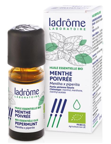 Huile essentielle bio Menthe poivrée 10 ml Ladrôme aromathérapie Herboristerie de paris