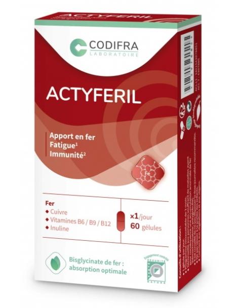 Actyferil 60 gélules Codifra Herboristerie de Paris