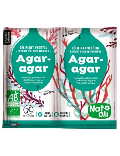 Agar Agar bio Gélifiant alimentaire végétal  8g Natali Herboristerie de Paris