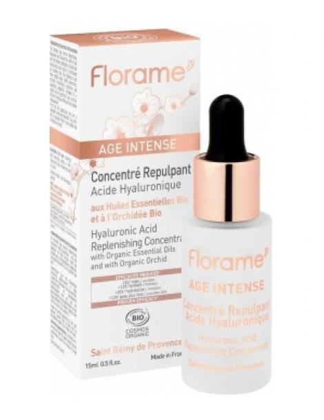 Age intense Concentré repulpant acide hyaluronique 15.0ml Florame Herboristerie de Paris