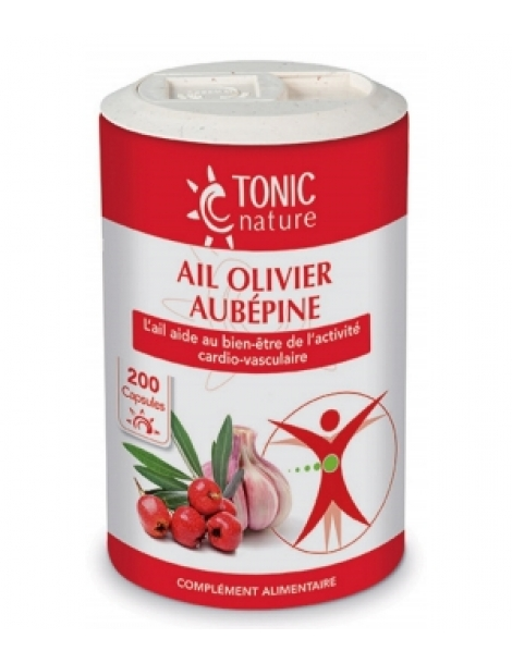 Ail + Olivier + Aubépine 200 capsules Tonic Nature Herboristerie de Paris