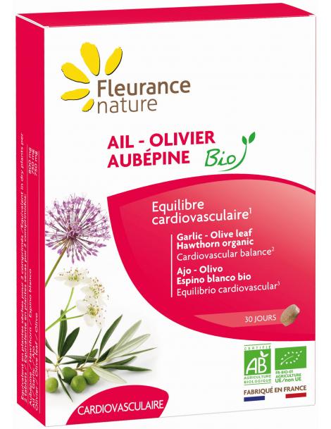 Ail Olivier Aubépine Bio 60 comprimés Fleurance Nature Herboristerie de Paris