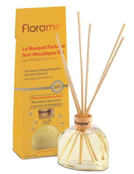 Bouquet Parfumé Anti Moustiques Bio 80 ml Florame géraniol Herboristerie de paris