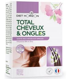 Total Cheveux et Ongles 60 comprimés Diet Horizon