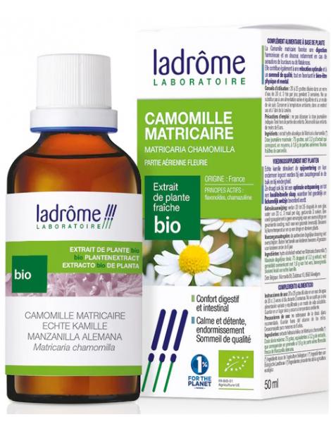Extrait de plantes fraiches Camomille matricaire bio 50ml Ladrôme stress digestion Herboristerie de paris