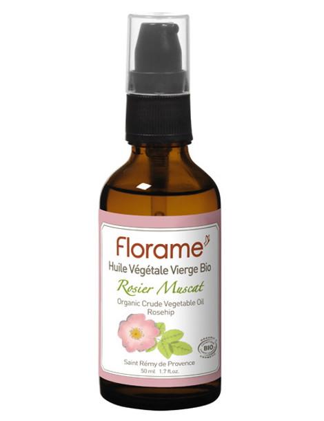 Huile de Rose Musquée rosier muscat bio 50 ml Florame jeunesse anti-age Herboristerie de paris