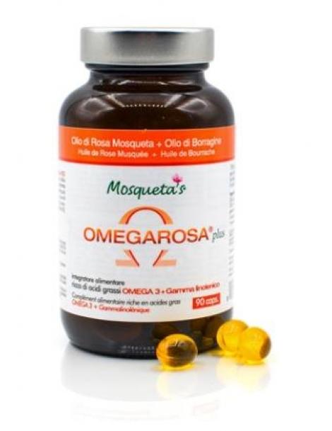 Rose musquée Bourrache Bio Omegarosa Plus 60 Capsules Mosqueta's acides gras essentiels Herboristerie de paris