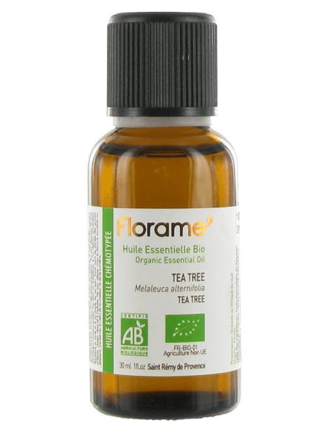 Huile essentielle bio de Tea Tree 30 ml Florame défenses vitalité Herboristerie de paris