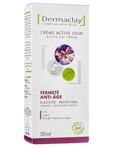 Crème active jour Fermeté Anti age 50 ml Dermaclay anti-rides densité peaux dévitalisées Herboristerie de paris