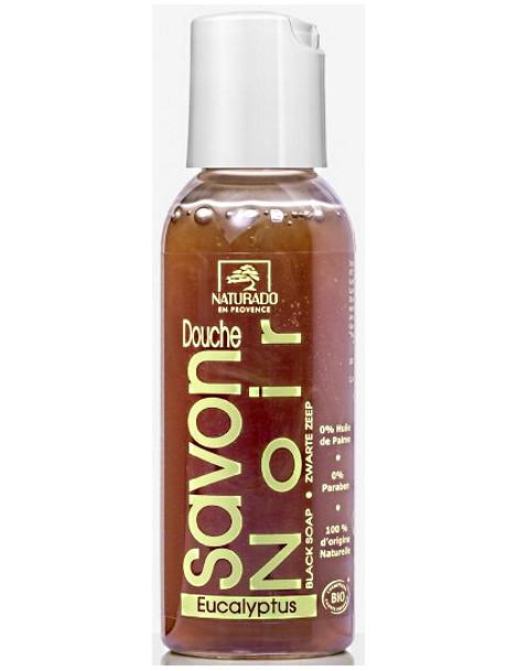 Savon Noir Douche à l'Eucalyptus 50 ml Naturado en Provence hygiène peaux sensibles Herboristerie de paris