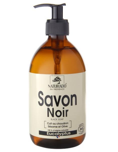 Savon Noir Douche à l'Eucalyptus 500 ml Naturado en Provence hygiène nutrition Herboristerie de paris