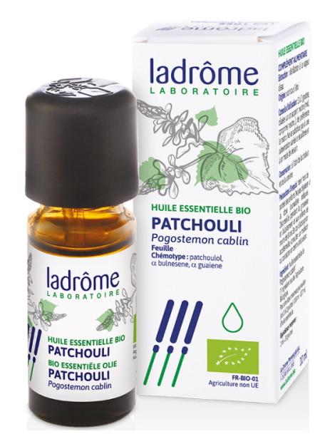 Huile essentielle bio de Patchouli 10 ml Ladrôme digestion circulation Herboristerie de paris