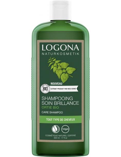 Shampooing brillance ortie 500 ml Logona cheveux ternes, secs et manquant de volume Herboristerie de paris