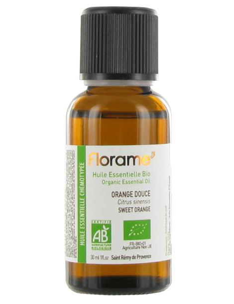 Huile essentielle bio Orange douce 30 ml Florame stress nervosité sommeil Herboristerie de paris