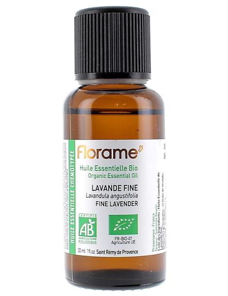 Huile essentielle bio Lavande Fine lavande vraie 30 ml Florame anxiété stress Herboristerie de paris