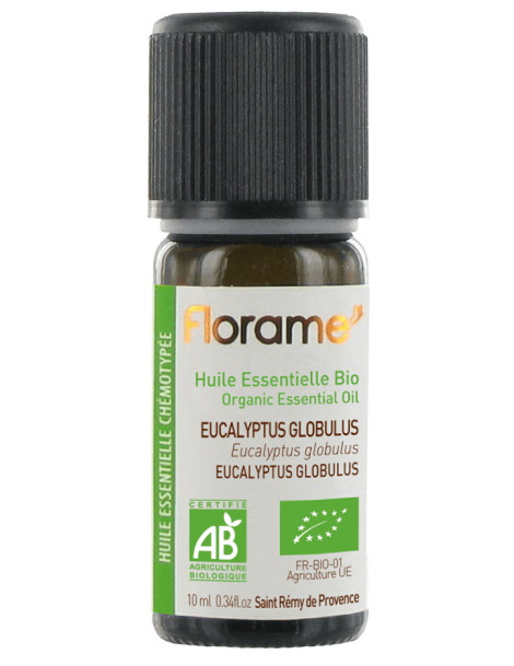 Huile essentielle bio Eucalyptus globulus 10 ml Florame défenses naturelles Herboristerie de paris