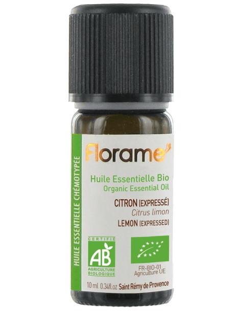 Huile essentielle bio Citron expressé 10ml Florame vitalité tonus Herboristerie de paris