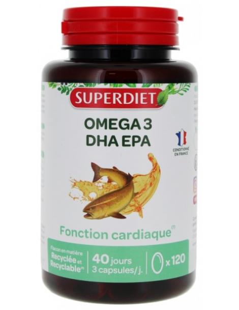 Omega 3  120 capsules Super Diet EPA DHA Herboristerie de paris