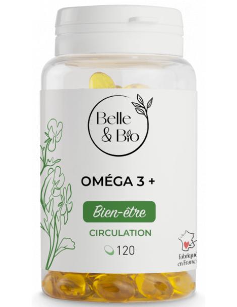 Oméga 3 à 65% acides gras 120 capsules Belle et Bio Herboristerie de paris