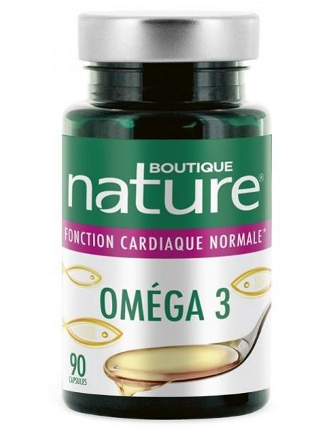 Omega 3 - 90 capsules Boutique Nature coeur artères cerveau Herboristerie de paris