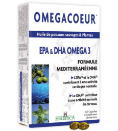 Omegacoeur EPA DHA Ail 60 capsules Holistica