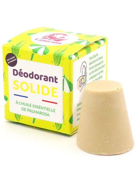 Déodorant solide Palmarosa 30 gr Lamazuna dédodorant économique vegan Herboristerie de paris