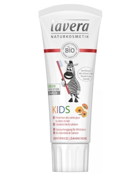 Dentifrice enfant au calendula bio et au calcium 75 ml Lavera dents d elait sans fluor Herboristerie de paris