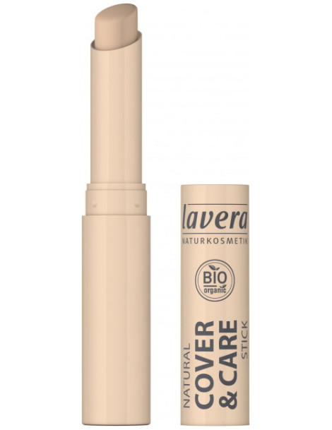 Correcteur stick cover and care  Ivory 01  1.7 gr Lavera maquillage minéral Herboristerie de paris