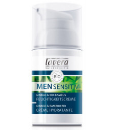 Crème hydratante Men Sensitiv Ginkgo et Bambou 30ml Lavera