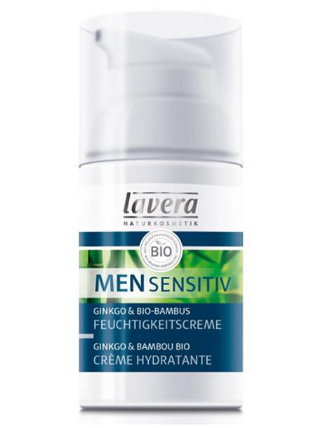 Crème hydratante Men Sensitiv Ginkgo et Bambou 30ml Lavera crème homme Herboristetrie de paris