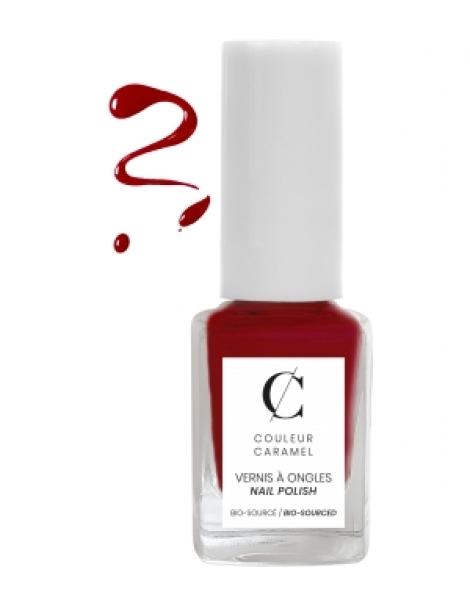 Vernis à ongles No 42 -  Rouge poinsettia 11 ml Couleur Caramel Herboristerie de Paris