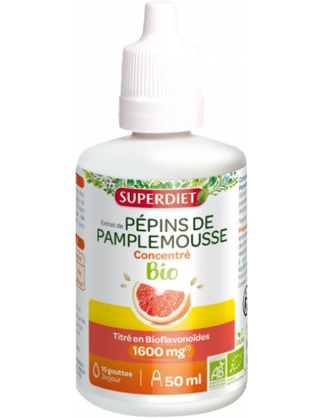 Extrait de Pépins de Pamplemousse Bio 420 mg 50ml Super Diet immunité bioflavonoides Herboristerie de paris