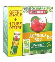 Acérola 500 bio + 1 tube OFFERT 36 comprimés Super Diet