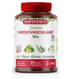 Quatuor Ail Olivier Tilleul Aubepine 150 gelules Super Diet