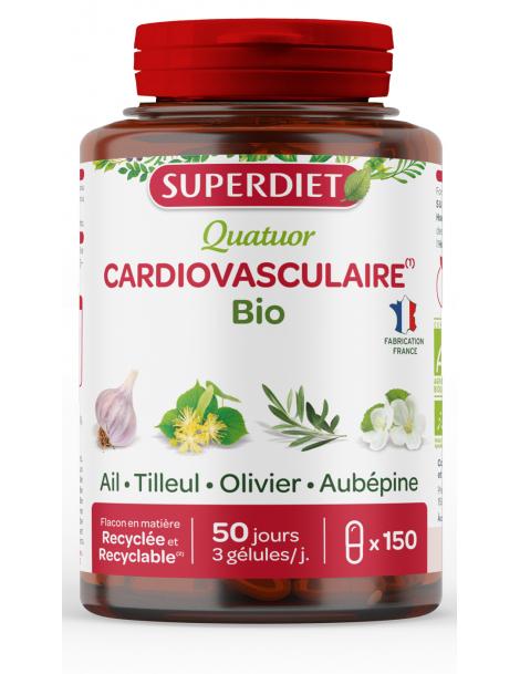 Quatuor Ail Olivier Tilleul Aubepine 150 gelules Super Diet coeur vaisseaux Herboristerie de paris