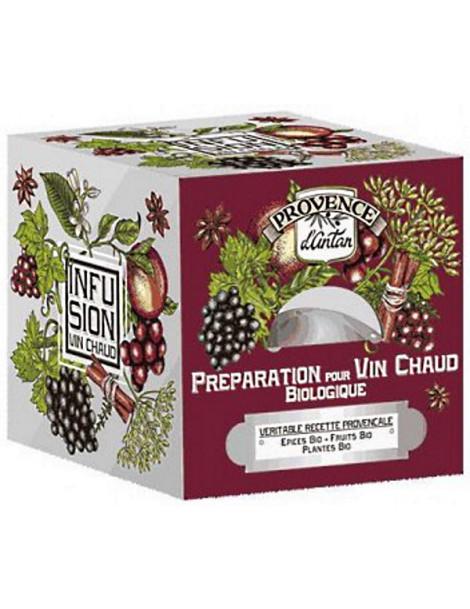 Préparation bio pour Vin chaud Recharge de 24 sachets Provence d'Antan énergie relaxation entre amis Herboristerie de paris