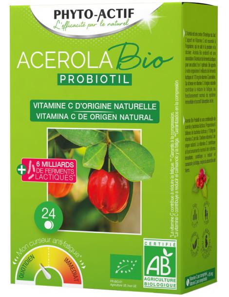 Acérola Probiotil  à partir de 6 ans 24 comprimés Phyto-Actif Herboristerie de Paris