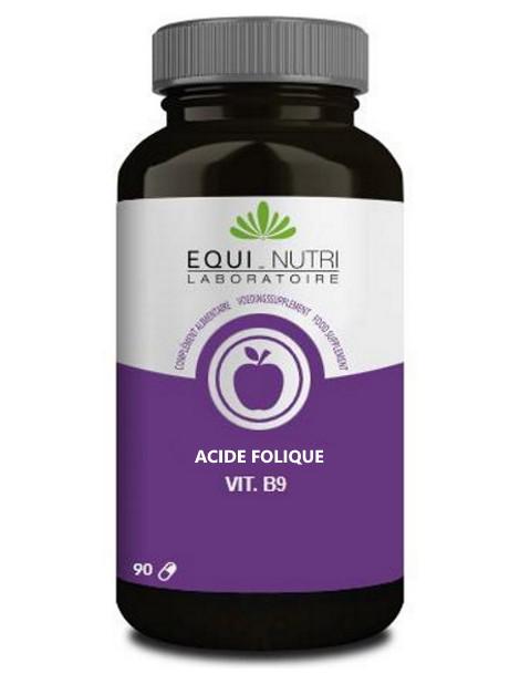 Vitamine B9 90 gélules végétales Equi - Nutri acide folique femmes Herboristerie de paris