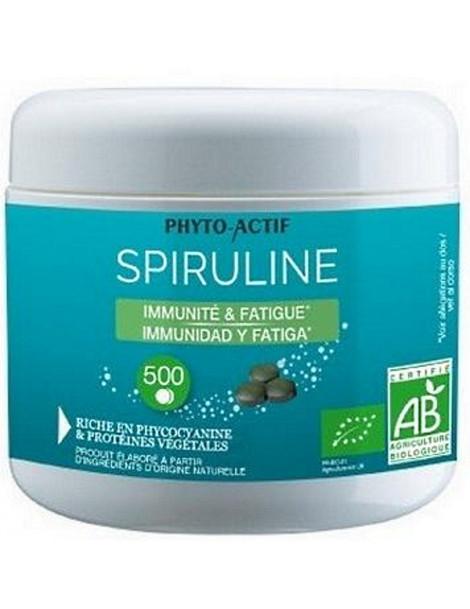 Spiruline bio Immunité Fatigue 500 comprimés Phyto-actif certifiée Ecocert Herboristerie de paris