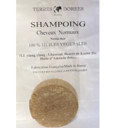 Shampoing solide Cheveux normaux 100 pour cent végétal 60 gr Terres dorées